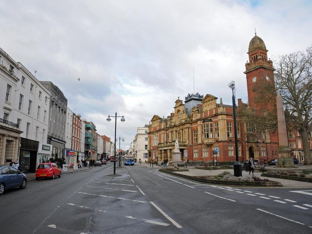 Leamington landmarks feature in JK Rowling's latest book. But the main character describes the town hall (on the right on the picture) as 'spectacularly ugly...over embellished with scrolls, pediments and lions'.