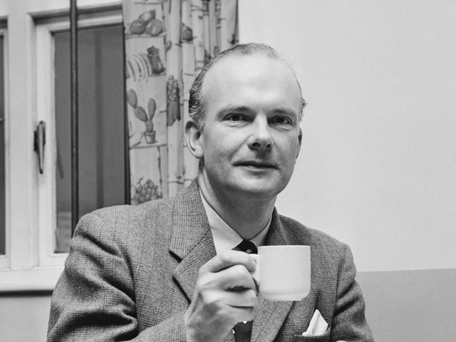 Far-right politician Colin Jordan drinking tea in 1968. (Photo by Daily Express/Hulton Archive/Getty Images)