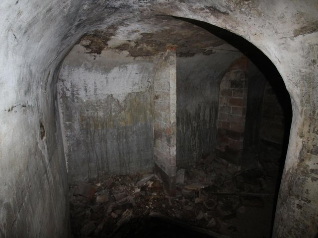 Following our features on the hidden passageways under Leamington, Ian Panter went to investigate the tunnel entrance in the basement of The Parade office when he used to work. Photo by Ian Panter.