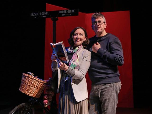 Sarah Earnshaw and Joe Pasquale in April in Paris (photo: Mark Senior)