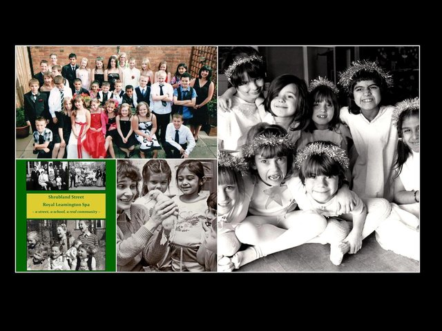 Photos from the book 'Shrubland Street Royal Leamington Spa – A school, a street, a real community'