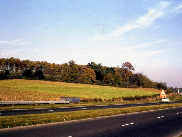 Blacklow Hill in 1972 (photo taken by Rob Steward, Kenilworth History and Archeology Society).