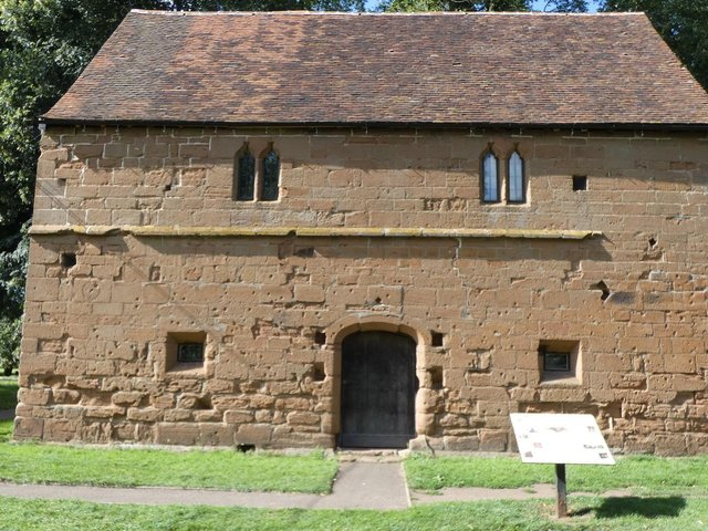 The building known locally as 'the Barn', now the Abbey Museum