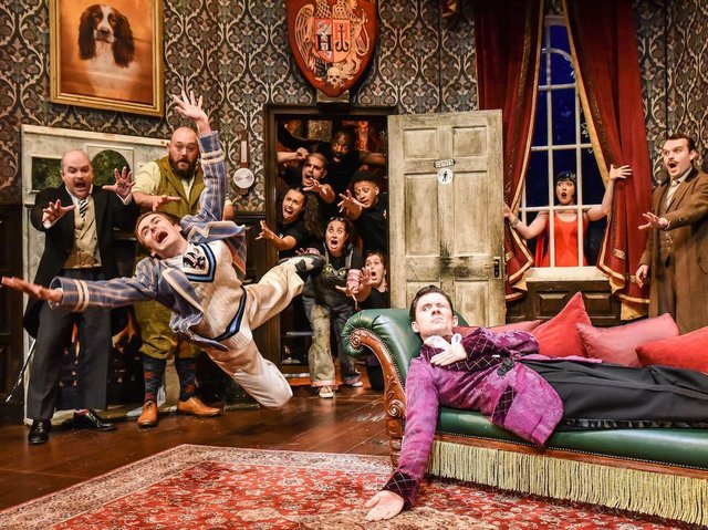 Crisply-executed chaos: The Play That Goes Wrong (photo: Robert Day)